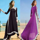 Women Ladies Vintage Long Sleeve Evening Party Cocktail Flared Prom Gown Dress