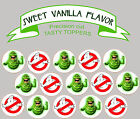 Ghostbusters Slimer Birthday Party Wafer cupcake cake Toppers Cup Cake