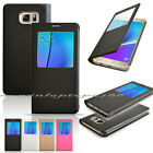 View Window PU Leather Slim Pouch Case Cover Skin For Samsung galaxy Note 5 2016