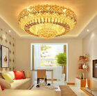 Modern Fashion round chandeliers LED Flush Mount K9 crystal ceiling lamps #5212A