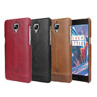 OnePlus 3 / OnePlus Three Pierre Cardin Hard Back Case Genuine Leather Cover