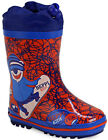 Beppi 2108390 Boys Blue / Red Snowboard Polar Rubber Wellies Wellingtons 5 - 10