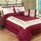 Sapphire Floral Bedspread Quilted Comforter Throw Modern Embroided Embellished