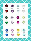 Authentic Origami Owl Retired Round & Heart Birthstone Charms BUY 3 GET 1 FREE!!