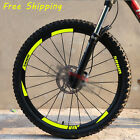 17 Mountain Bike Bicycle wheels rim Stickers for MTB SRAM DH Race Cycling decals