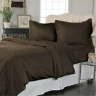OFFER PRICES !! 1000TC 1PC FITTED SHEET ( CHOCOLATE SOLID ) 100% EGYPTIAN COTTON