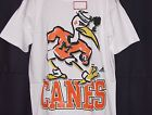 Vintage 90's U Miami HURRICANES Apex One T-Shirt NCAA 2-Side Print BIG LOGO NWT