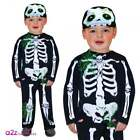 SPOOKY SKELETON INFANT TODDLER CUTE CUDDLY HALLOWEEN FANCY DRESS COSTUME
