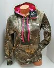 NWT~WOMENS REALTREE CAMO W/ HOT PINK FLEECE HOODIE SWEATSHIR