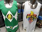 Licensed Mens Green Power Rangers Reversible Jersey Shirt New S, M, L, XL, 2XL
