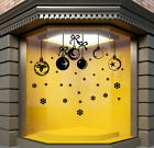CHRISTMAS WINDOW STICKERS SHOP XMAS WALL STICKER Baubles sticker decal  N132