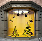 CHRISTMAS WINDOW DECORATION / XMAS TREE  STICKERS / CRISTMAS WALL STICKER /  S61