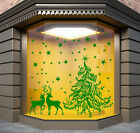 CHRISTMAS WINDOW DECORATION  XMAS TREE STICKERS CRISTMAS WALL STICKERS / S63