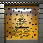 CHRISTMAS WINDOW DECORATION  XMAS TREE STICKERS CRISTMAS WALL STICKERS / S70