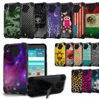 Dual Layer Shockproof Drop Protection Case w/Stand Cover for LG X Power K6P