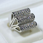 18K White Gold Filled AAA CZ Women Fashion Jewelry Ring Sets R5351A Size 5-10