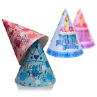PINK Princess / BLUE Prince  - 6 Paper Hats - 1st & Crown Design Birthday Party