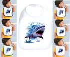 Rabbit Skins Infant Cotton Snap Bib Shark