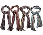 UNISEX MULTI COLOUR STRIPED SCARF WITH FRINGED ENDS