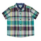 TED BAKER Boys Green Checked Short Sleeve Shirt 0-3m,3-6m,6-12m,12-18m  Rrp £14