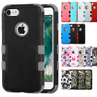 Shockproof Duo Layer Hybrid Rigid Hard Case+Soft Skin Cover for iPhone Models