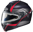HJC IS-Max II Snow Mine Red Black Electric Shield Modular Snowmobile Helmet