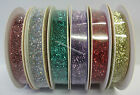 2 Metres Velvet Glitter Ribbon 10mm for Sewing, Craft, Scrapbooking, Card Making