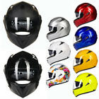 ILM 10 Color DOT Dual Visor Flip Up Motorcycle Helmet Racing Motocross Full Face