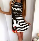 Mini abito vestito corto stampa Topolino DISNEY Mickey Mouse printed mini dress