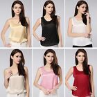 Luxurious Silk Tank Top Camisole Vest Shirt 19 Momme Charmeuse Top