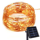 200 LEDs Waterproof Solar Powered Starry String Copper Wire Lights