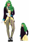 LEG AVENUE Wicked Trickster Joker Villian Womens Sexy Fancy Dress Costume 85589