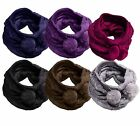 Ladies Girls Soft knitted Snood Neck Warmer Gaiter Hat