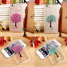 Sakura Tree Pressed Real Dry Flower Floral TPU Case Cover For iPhone 5 5S 6 6S