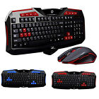 High Quality Wireless Gaming Keyboard Gaming Mouse Set For PC Laptop Desktop PO