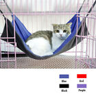Reversible Pet Cat Dog Hammock Crib Bed Hanging Cradle Cage Sleeping Toy Sz S/L