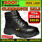 Wide Load Safety Work Boots, 'PRIME MOVER' (PM1). Extra Wide. Lace-Up.