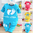 Cotton Kid Girls Clothes Long Sleeve Tops Sweater + Pants 2pcs Baby Outfits Sets