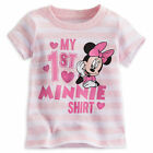 "Disney Store ""My First "" Minnie Mouse Girls Baby Shirt Pink Size 3 6 9 12 Months"