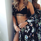 Women Girl Lingerie Corset Lace Push Up Vest Top Bra+Pants Set Underwear Suit