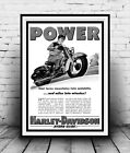 Power Harley Davidson  : old Newspaper advert Reproduction poster, Wall art. £10.99 GBP on eBay