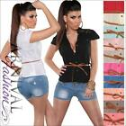 NEW BELT + SEXY lacy TOPS for girls casual SHIRT ladies short sleeve BLOUSE TOP