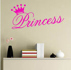 Various Color Beautiful Princess Crown Wall Sticker Decal fo