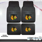 blackhawks car - Chicago Blackhawks NHL Heavy Duty Vinyl 2-Pc & 4-Pc Floor Car Truck SUV Mat Sets