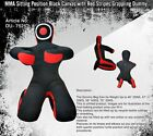 MMA Sitting Style BJJ Grappling Dummy   Submission Style Black Canvas