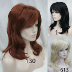 Wig Ladies Fashion Medium Long Wavy Wig Natural Fluffy Long Curly Hair