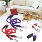 Nylon Duplex Double Coupler Twin Lead 2 Way Two Pet Dogs Walking Leash Safety