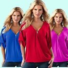 Women Summer Loose Casual Top Blouse Short Sleeve Casual Shirt Plus Size S-5XL