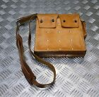 Genuine Vintage Military Issue Leather Ammo Mag Case / Bag With Shoulder strap