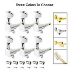 Guitar String Inline Tuning Pegs Tuners Keys Machine Heads 6R Chrome or Gold